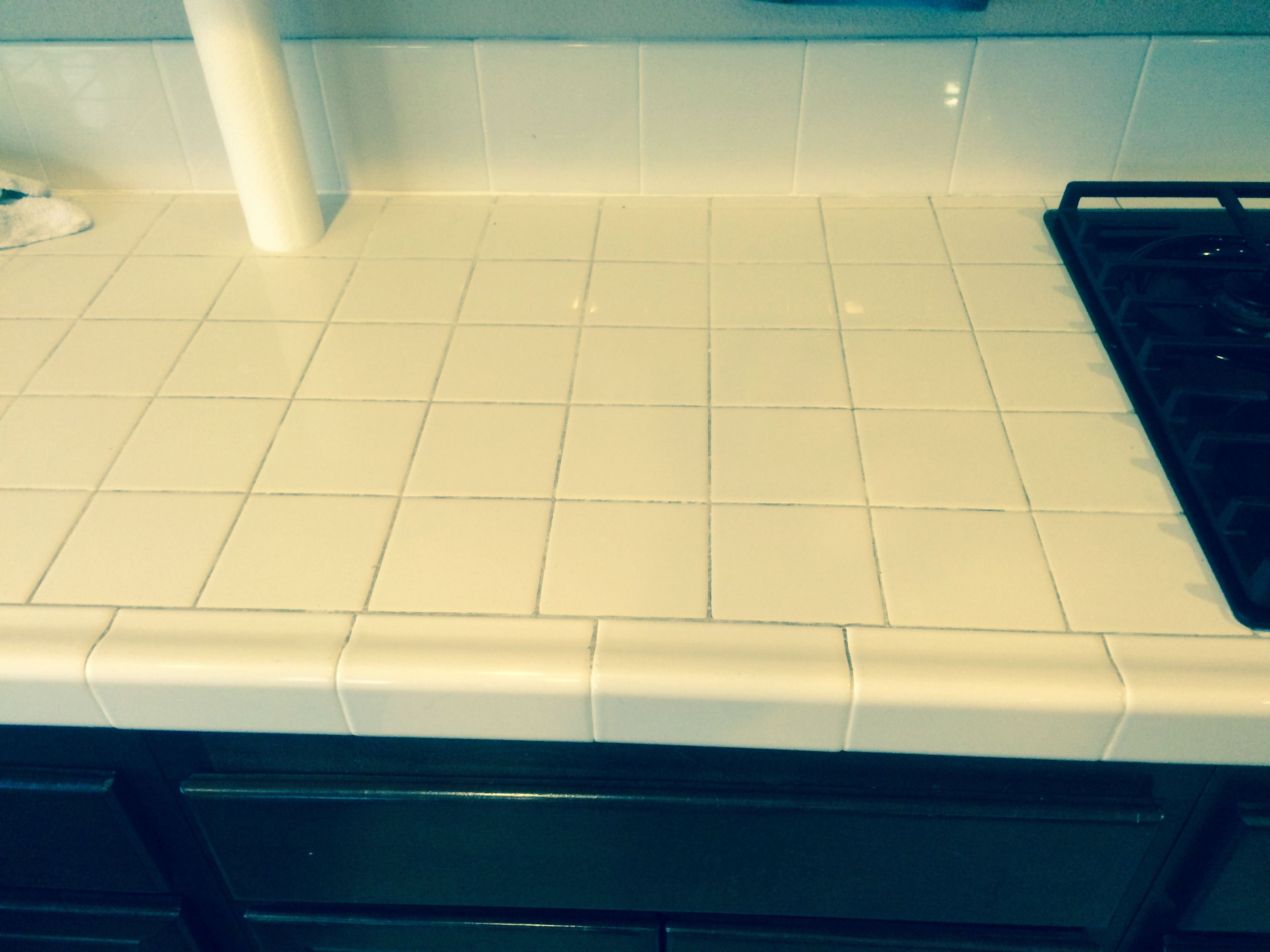 Tile and Grout Cleaning: Kitchen Countertops - Riverside, CA