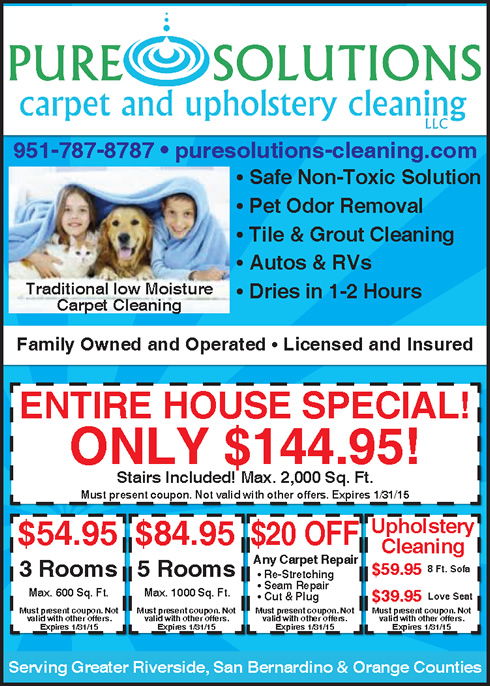 Carpet Cleaning Specials- Riverside, CA